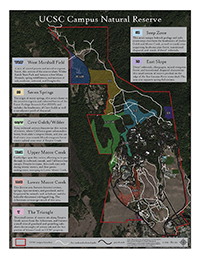 Map of the UCSC Campus Natural Reserve habitat sectors
